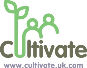 cultivate logo + web