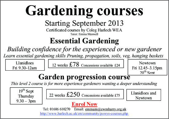 Gardening courses with Emma Maxwell