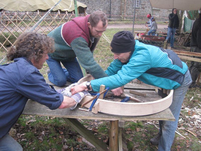 Richard Stephenson, carpenter on a recent workshop