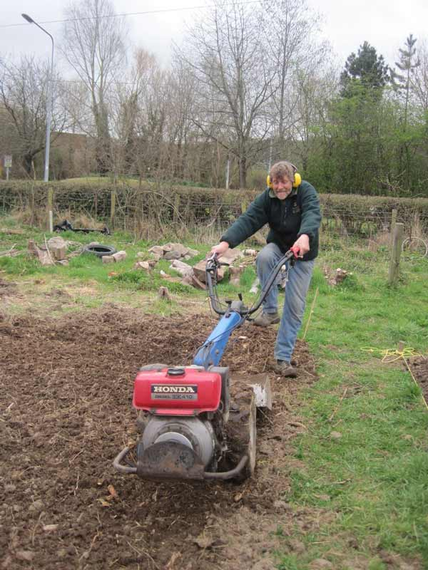 Dave with the rotavator