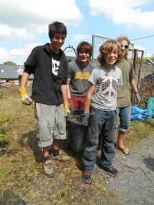 Garden clearing team, Llanidloes
