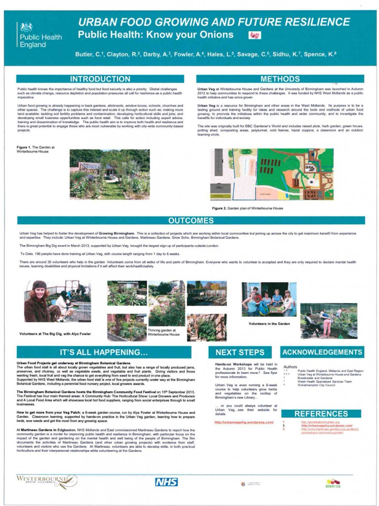 NHS Report on the imperatives and potentials of Urban Food Growing. Click to enlarge