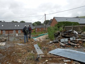 Site for the new Llanidloes public growing space, before being cleared by the Get-Growing team and volunteers