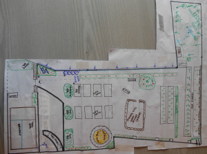 Concept design Llanidloes community food garden