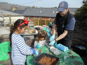Gary & Kids making wildflower seed bombs