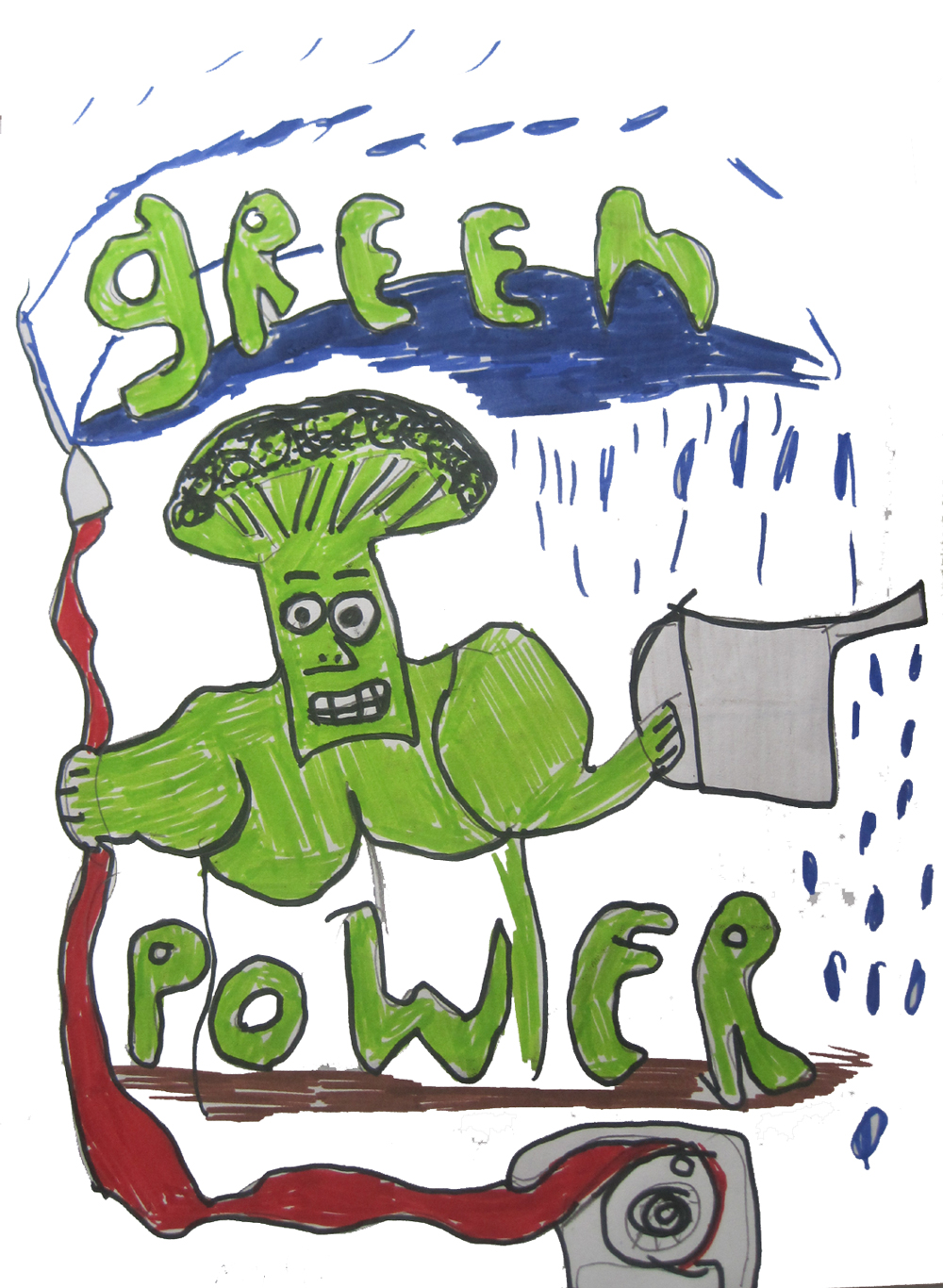 Green power, broccoli man!
