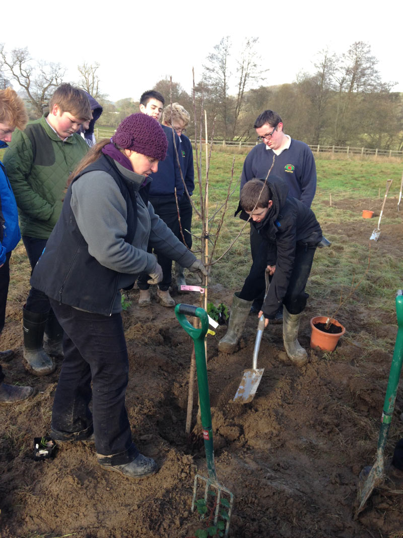 Emma Maxwell from Cultivate leads on the tree planting
